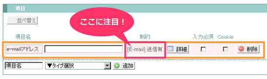 E-mail送信有
