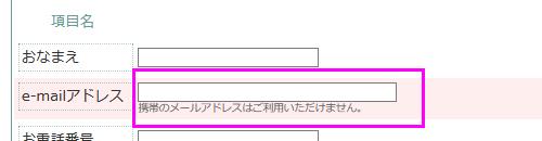 項目の下に注釈を追加した場合は、フォームの下に注釈が表示されます。