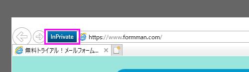 windows IE11 プライベートウィンドウの表示